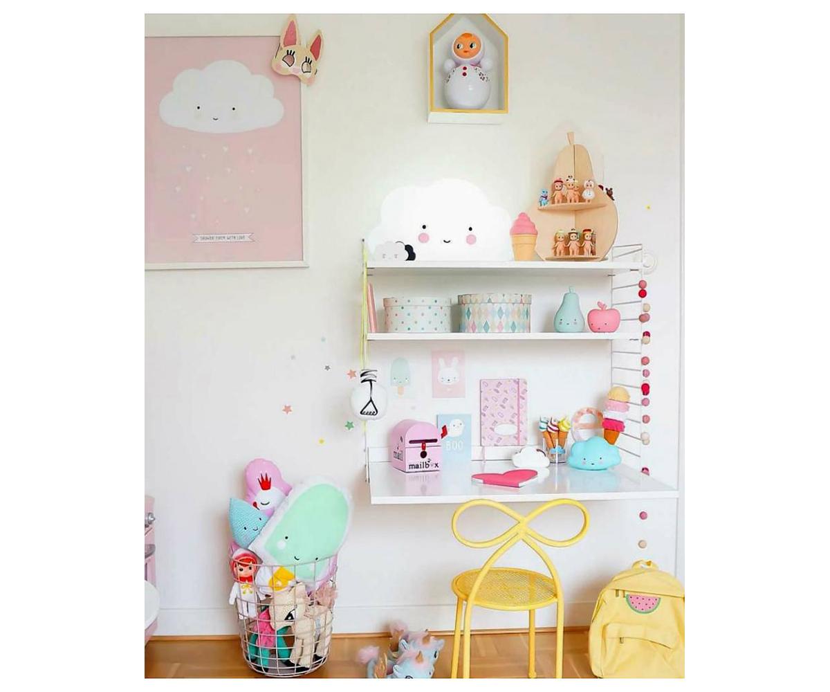 p ster cloud pink 50 x 70 cm. Black Bedroom Furniture Sets. Home Design Ideas