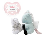Pack Regalo Mini Little Horse Pegasus con Doudou Rosa