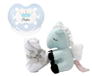 Pack Regalo Mini Little Horse Pegasus con Doudou Azul