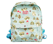 Mochila Personalizable Spring Forest Owl