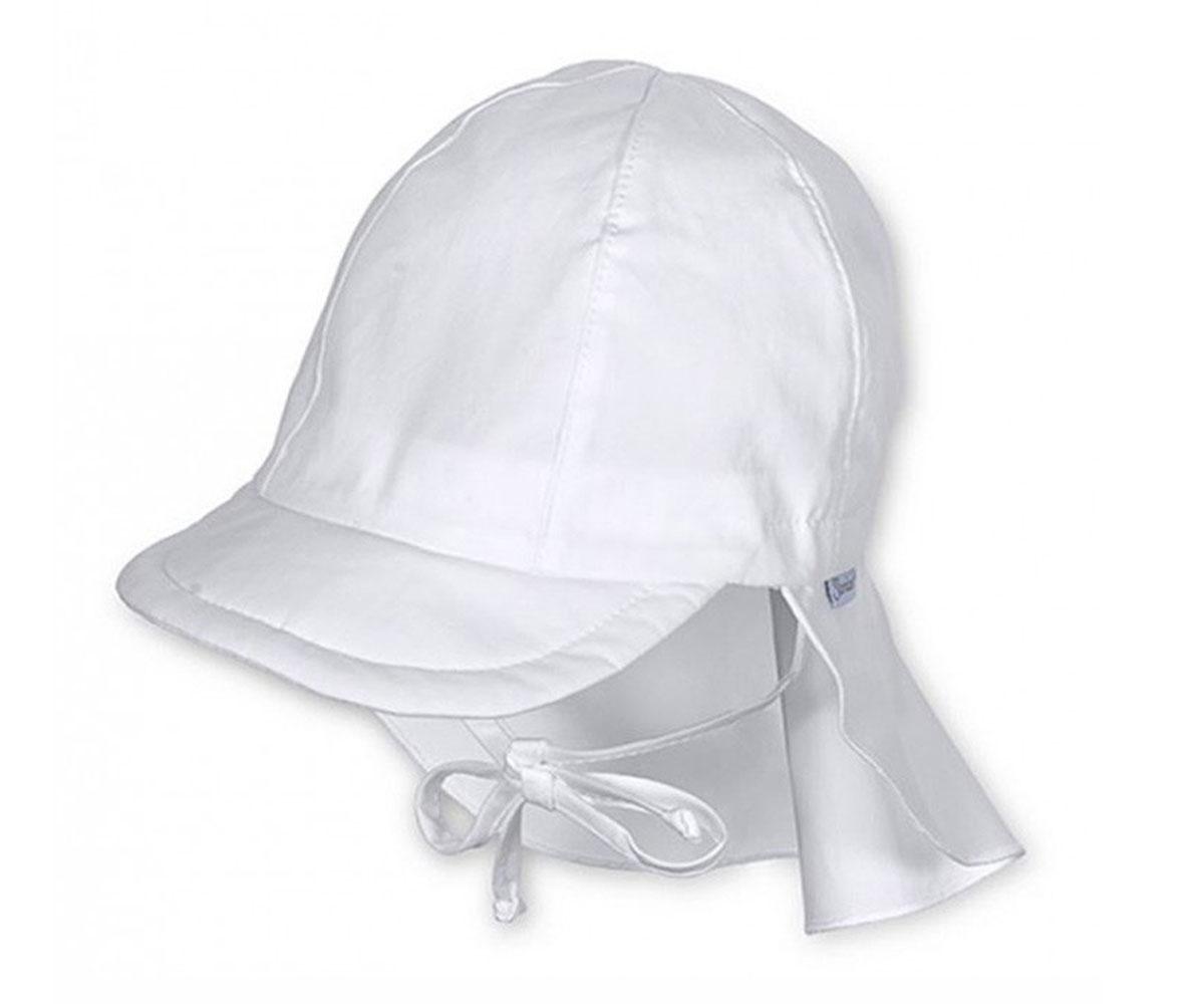 Cappellino con Visiera Protezione Cervicale Bianco 12-24m e67c36972713