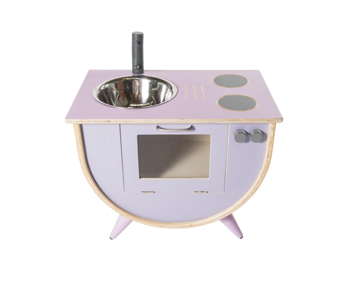 Cucina legno rosa lilla - Cocina rosa ...