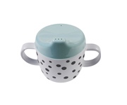 Taza con Boquilla Happy Dots Azul