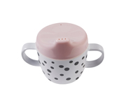 Taza con Boquilla Happy Dots Rosa