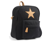 Back Pack, Black with leather Star