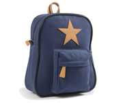 Back Pack, Navy with leather Star