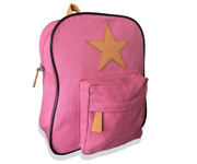 Back Pack, Old rose with leather Star