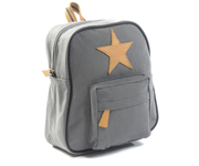 Back Pack, Dark grey with leather Star