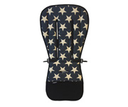 Blue Stars Stroller Seat Cushion