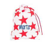 Red Nido Star Personalised Lunch Bag