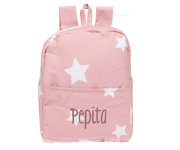 Mochila Plastificada Star Big Rosa Personalizable