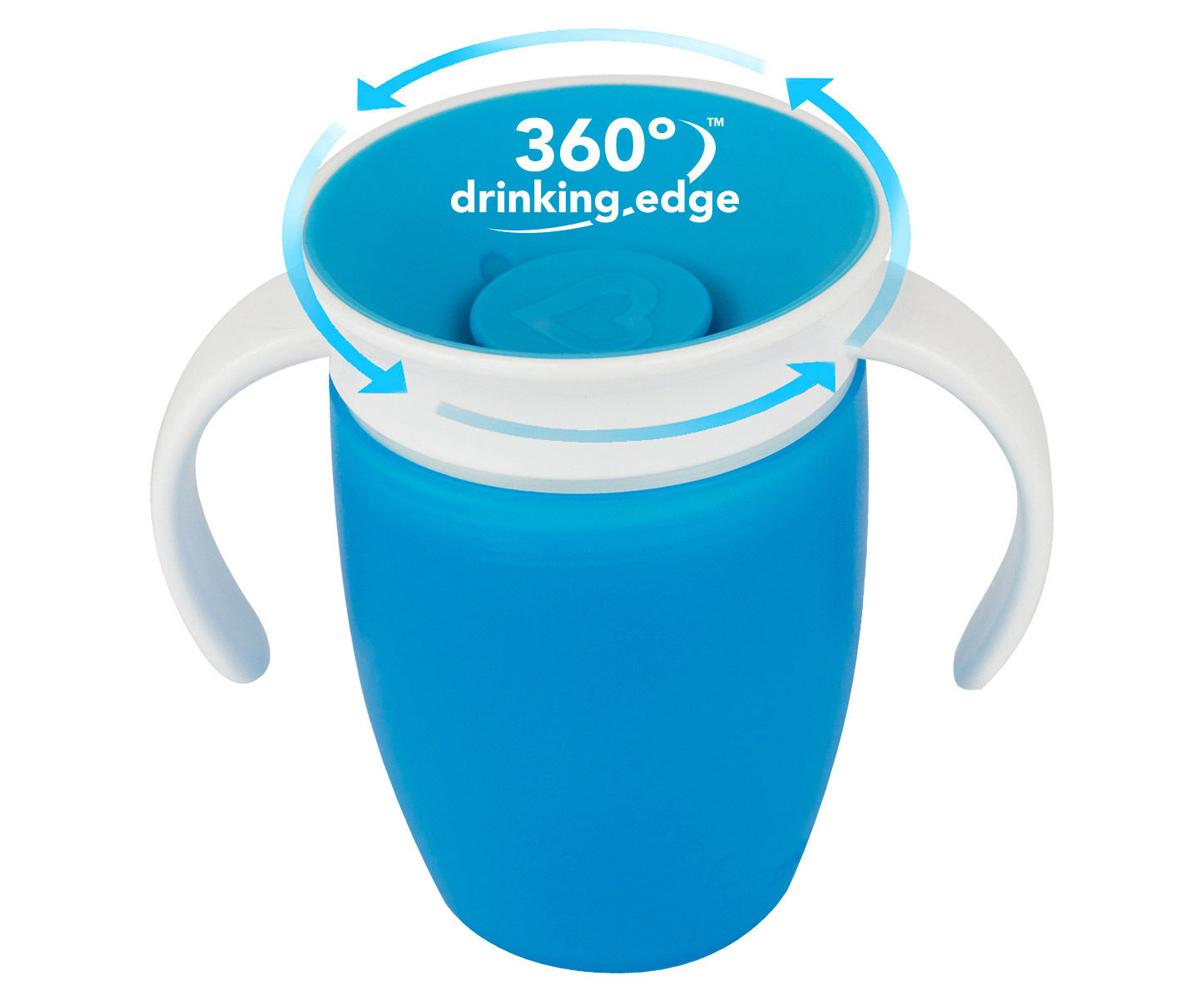 Munchkin My Miracle 360 Tasse d/'Apprentissage Personnalisable Bleu
