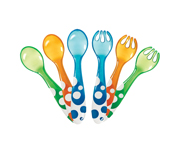 6 Pack Multi-Coloured Forks And Spoons