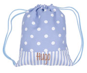 Blue Dots Personalised Bag