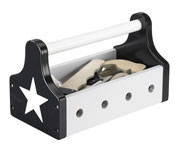 Star - Black Wooden Tool Box