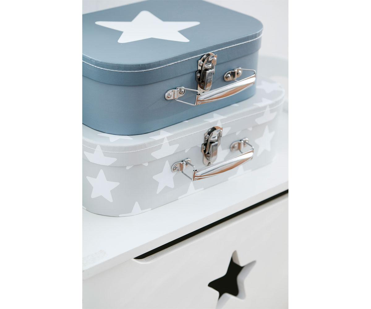 Set 2 maletitas star blue - Maletas blue star ...