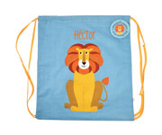 Mochila Saco Colourful Creatures Lion Personalizada