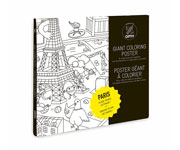 Póster Gigante Despegable para Colorear Paris