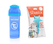 Pack Twistshake Azul 260ml y Enganche Lil' Sidekick Azul