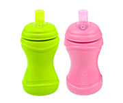 Re-Play 2 Pack Soft Spouts - Green/Bright Pink