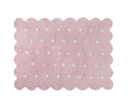 Lorena Canals Pink Rectangle Biscuit Rug