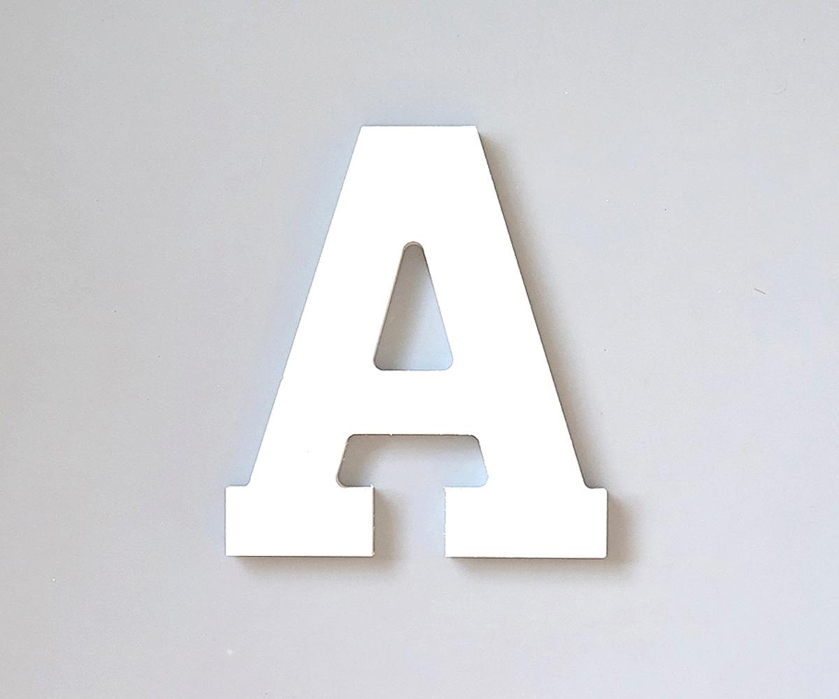 Lettera legno bianco decorativa tutete - Casa letras madera ...