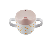 Taza con Boquilla Happy Dots Rosa/Golden