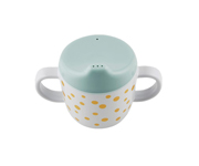Taza con Boquilla Happy Dots Azul/Golden