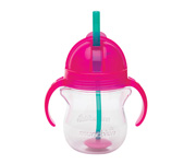 Click Lock™ Weighted Flexi-Straw Cup - 7oz Pink