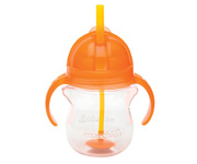 Click Lock™ Weighted Flexi-Straw Cup - 7oz Orange