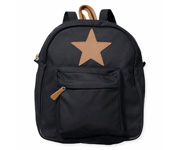 Back Pack, Large, Black with leather Star Barcode: