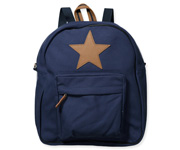 Back Pack, Large, Navy with leather Star