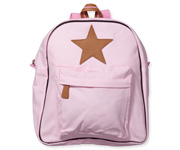 Back Pack, Large, Rose with leather Star