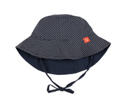 Sun Protection Bucket Hat Kids, Polka Dots navy