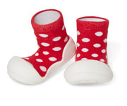 Babbucce Attipas Polka Dots Rosso