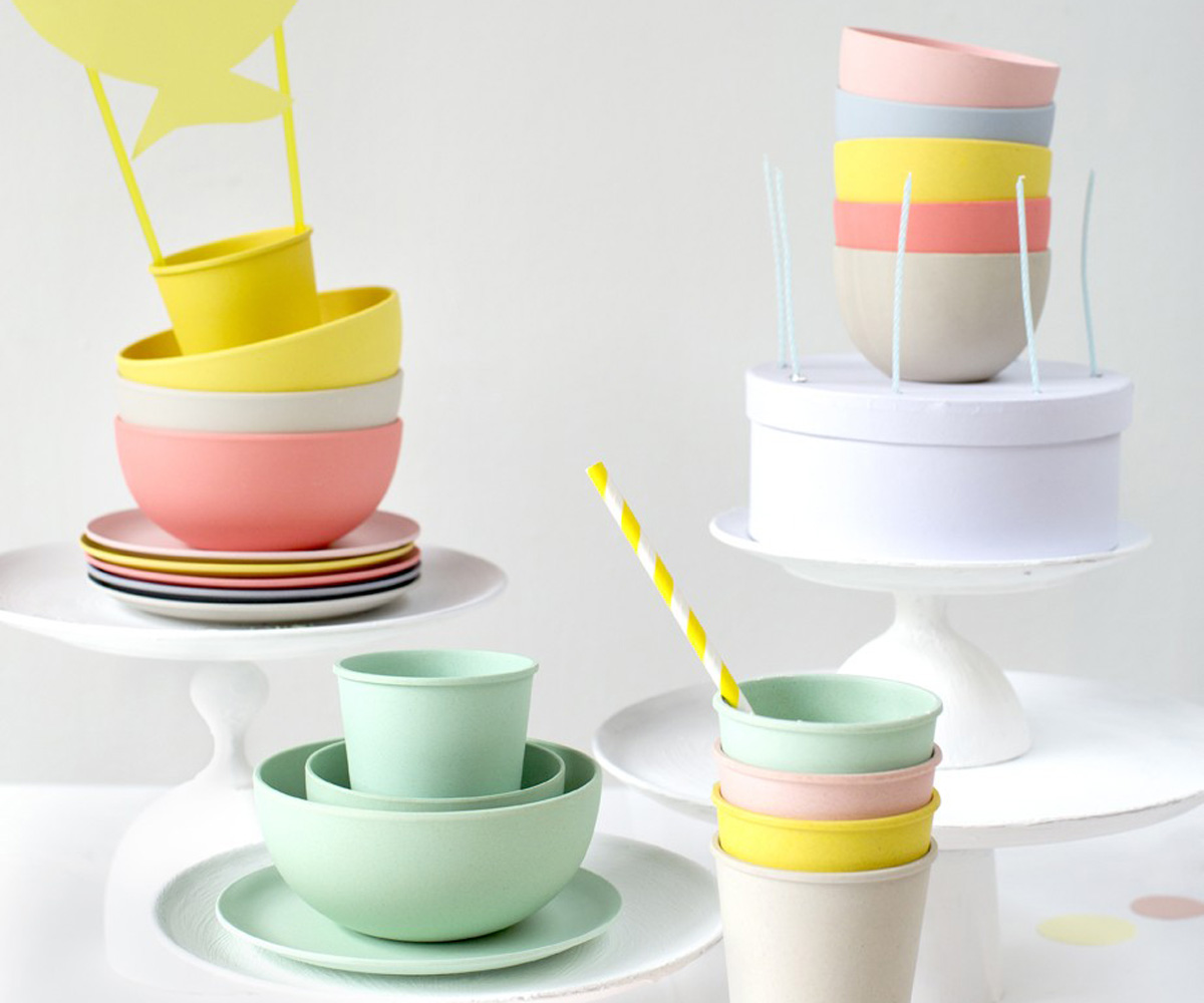 Vajilla bamb para fiesta set 6 bols colores pastel tama o peque o tutete - Vajilla bambu ...