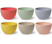 vajilla bamboo bowl mix L (13 cm x 6pcs).