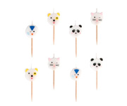 8 Velas Mini Animals
