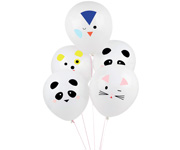 5 tattooed balloons - mini-animals