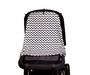 Cortina Parasol para Carricoche Light Zig Zag Negro