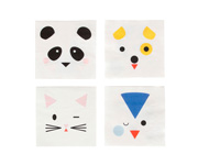 20 Servilletas de Papel Mini Animales