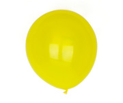 10 Globos Color Amarillo