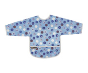 Cleanbib with sleeves Blue Whales