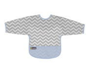 Cleanbib with sleeves Blue Chevron