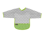 Cleanbib with sleeves Green Chevron