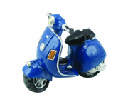 Mini Moto Decorativa Vespa Azul Marino