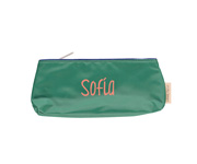 Pencil case large green