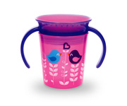 Miracle® 360° Deco Trainer Cup - 6oz (Pink Birds)