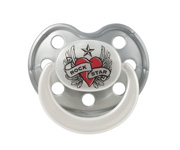Chupete Rock Star Baby Silicona Heart&Wings