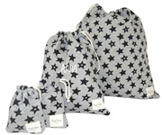 Pack 4 Bolsas Guardería Plastificadas Personalizada Fun Black Star